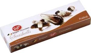 Trefin | Seashell Praline Belgian Chocolates, 65g - Hansel and Gretel Coffee House