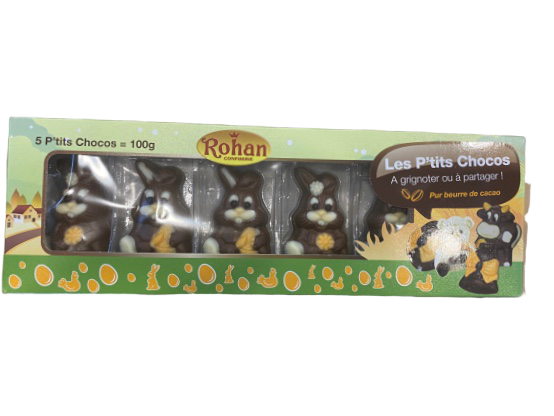 Confiserie Rohan | 5 Milk Chocolate Bunnies - Hansel and Gretel Coffee House