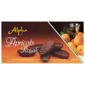 Alpha Confectionery | Apricots Royale - nut, dairy and gluten free, 250g - Hansel and Gretel Coffee House