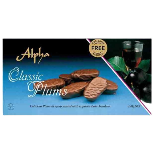 Alpha Confectionery | Classic Plums - nut, dairy and gluten free, 250g - Hansel and Gretel Coffee House