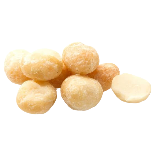 Dry-Roasted Salted Whole Macadamias, 500g - Hansel and Gretel Coffee House