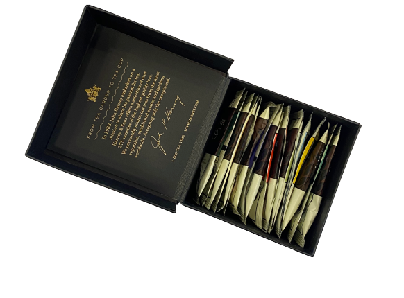 Harney & Sons | Sampler Large Black Box With 20 Specialty Blends Teabags - Hansel and Gretel Coffee House