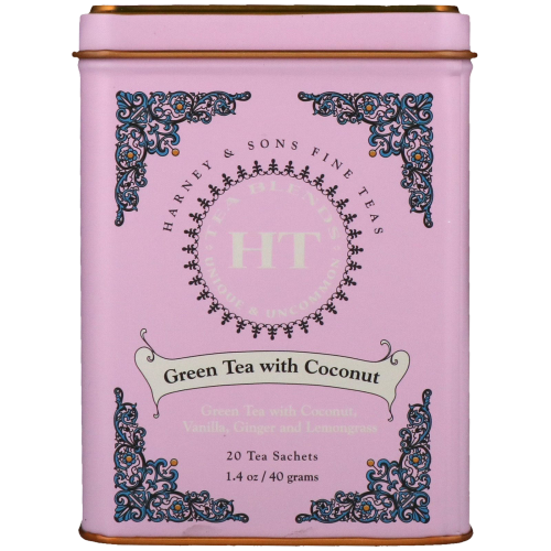 Harney & Sons | Green Tea with Coconut, 20 sachets - Hansel and Gretel Coffee House