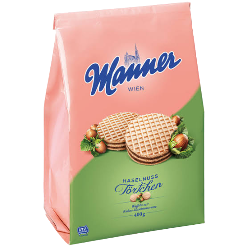 Manner | Hazelnut Tartlets, 400g - Hansel and Gretel Coffee House