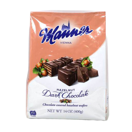 Manner | Dark Chocolate Covered Wafers, 400g - Hansel and Gretel Coffee House