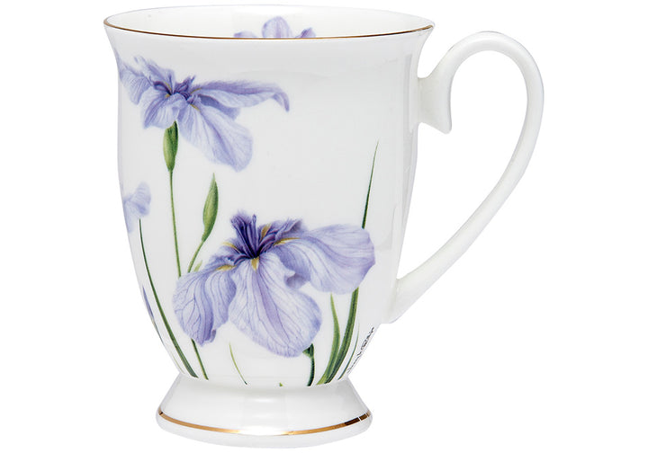 Floral Symphony Iris Footed Mug - Hansel and Gretel Coffee House