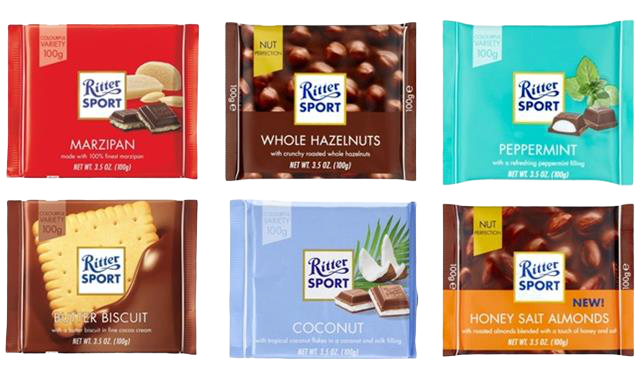 Ritter Sport Chocolate Bars, 100g - Hansel and Gretel Coffee House