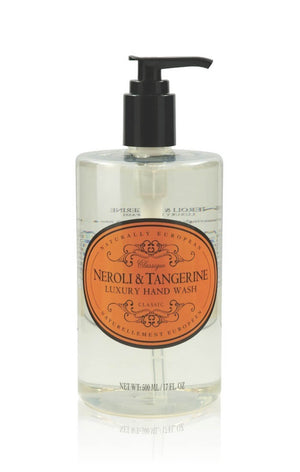 NATURALLY EUROPEAN HAND WASH  - NEROLI & TANGERINE -  500ml - Hansel and Gretel Coffee House