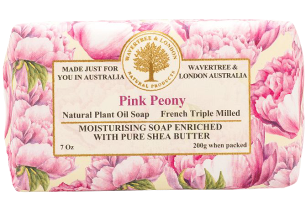 WAVERTREE & LONDON - PINK PEONY SOAP 200g - Hansel and Gretel Coffee House