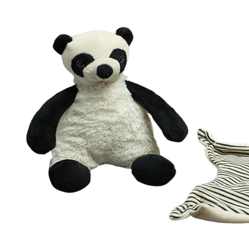 Plush Panda with Rattle - Hansel and Gretel Coffee House