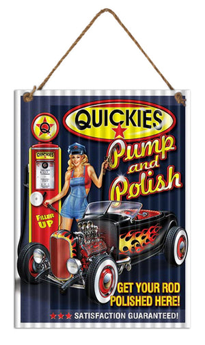 Quickies Pump n Polish Sign 30x40cm