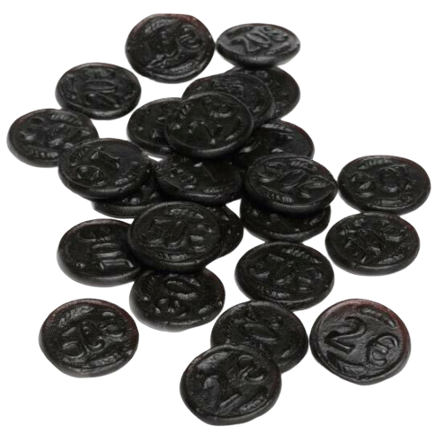 Dutch Liquorice - Black Coins, 200g - Hansel and Gretel Coffee House
