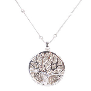 EQUILIBRIUM TREE OF LIFE LONG NECKLACE - SILVER