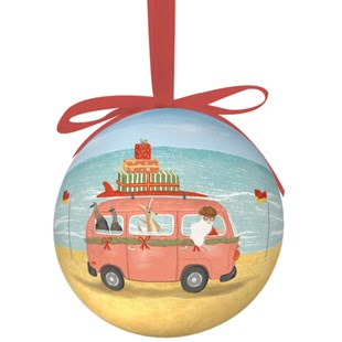 La La Land TRAVELLING SANTA SINGLE BAUBLE