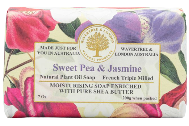 WAVERTREE & LONDON - SWEET PEA JASMINE SOAP 200g - Hansel and Gretel Coffee House
