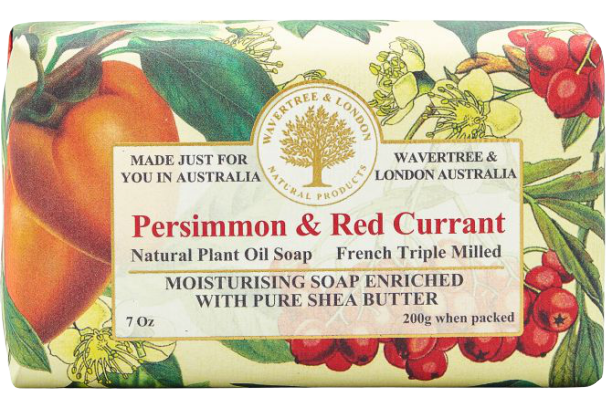 WAVERTREE & LONDON - PERSIMMON & RED CURRANT SOAP BAR 200G - Hansel and Gretel Coffee House