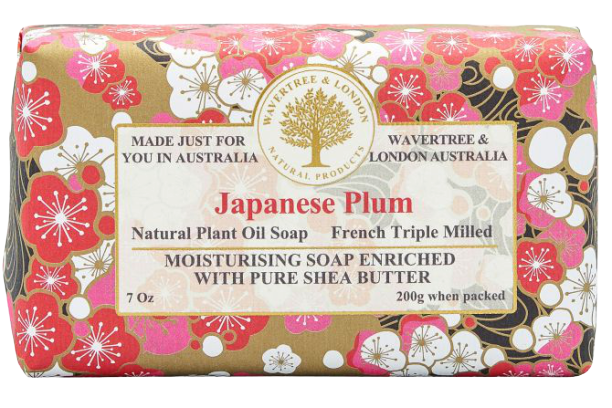 WAVERTREE & LONDON - JAPANESE PLUM SOAP BAR 200G - Hansel and Gretel Coffee House