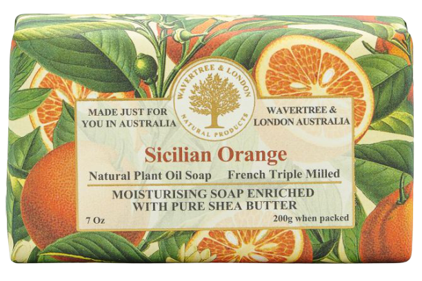 WAVERTREE & LONDON - SICILIAN ORANGE SOAP 200g - Hansel and Gretel Coffee House