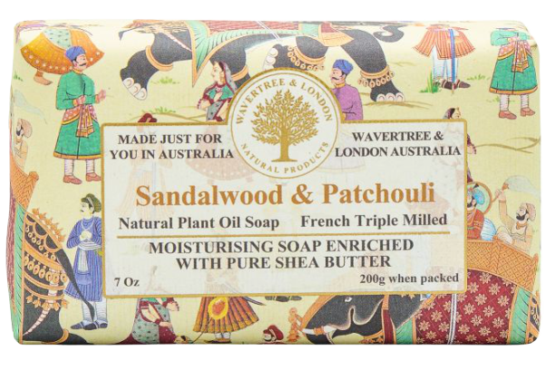 WAVERTREE & LONDON - SANDALWOOD & PATCHOULI SOAP 200g - Hansel and Gretel Coffee House