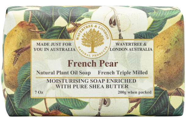 WAVERTREE & LONDON - FRENCH PEAR SOAP BAR 200G - Hansel and Gretel Coffee House
