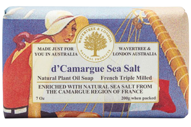 WAVERTREE & LONDON - D'CAMARGUE SEA SALT SOAP BAR 200G - Hansel and Gretel Coffee House