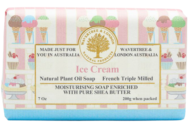 WAVERTREE & LONDON - ICE CREAM SOAP BAR 200G - Hansel and Gretel Coffee House