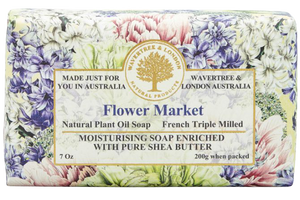 WAVERTREE & LONDON - FLOWER MARKET SOAP BAR 200G - Hansel and Gretel Coffee House