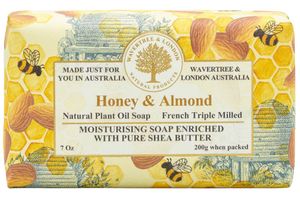 WAVERTREE & LONDON - HONEY & ALMOND SOAP BAR 200G - Hansel and Gretel Coffee House
