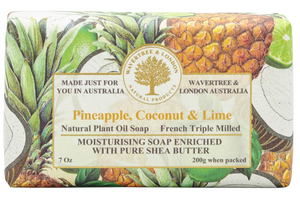 WAVERTREE & LONDON - PINEAPPLE,COCONUT & LIME SOAP 200g - Hansel and Gretel Coffee House