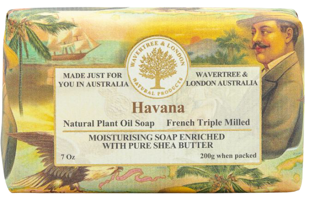 WAVERTREE & LONDON - HAVANA SOAP BAR 200G - Hansel and Gretel Coffee House
