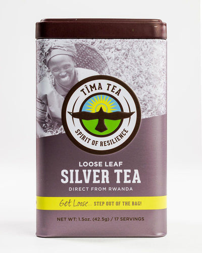 Organically-Grown Fair Trade Silver Tea in Tin