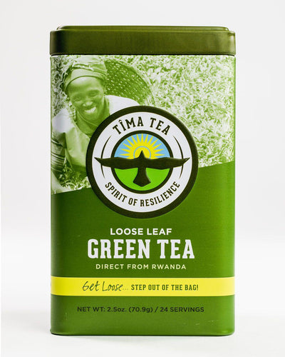 Organic Fair Trade Green Tea in Tin