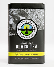 Load image into Gallery viewer, Organically-Grown Rwandan Black Orthodox Tima Tea in a Tin 2oz