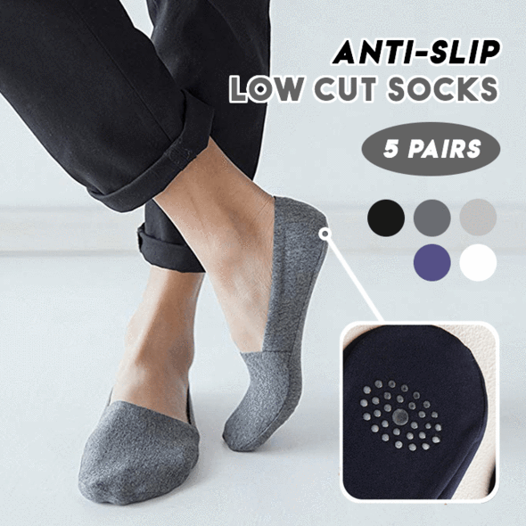 Anti-Slip Low Cut Socks--BUY 3 & GET 2 FREE TODAY!
