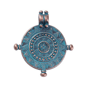 Compass Nautical Charm, Patina