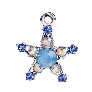 Star Charm, Pastel Blues Stones