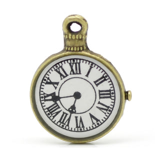 Clock Charm, bronze tone (MARCH)