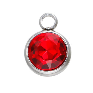 Birthstone Charm, July ruby