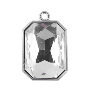 Crystal Charm, Large Clear 8 Sided