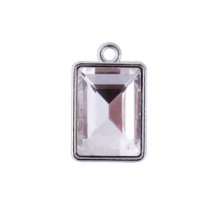Crystal Charm, Rectangle Clear
