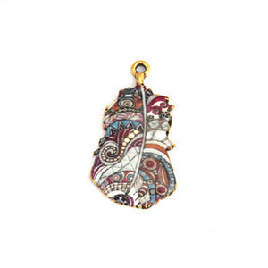 Feather Charm, Paisley Art