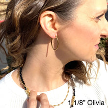 Load image into Gallery viewer, Earrings Oval Hoops, Gold Plated Stainless Steel, small