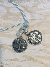 Load image into Gallery viewer, HOOP EARRING CHARMS cross hammered look