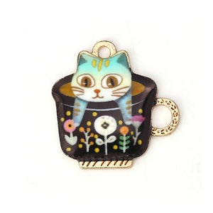 Cat in a Cup Charm