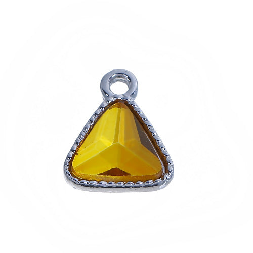 Birthstone Charm triangle, November topaz