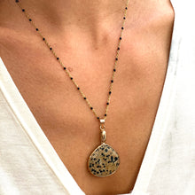 Load image into Gallery viewer, Gemstone/Natural Stone Khaki & Black & Gold Speckled large