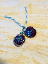 Load image into Gallery viewer, HOOP EARRING CHARMS druzy clear crystals