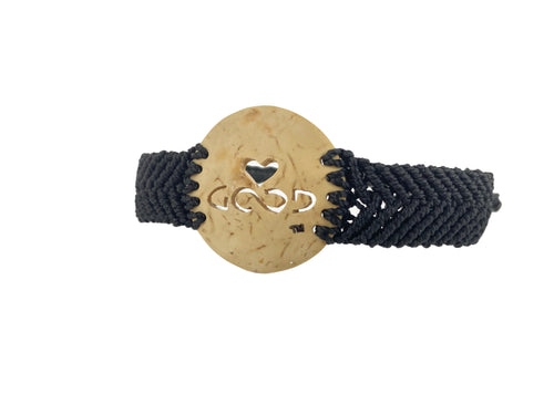 Heart Strings Diffuser Bracelet Sacred Ties (Black Band)