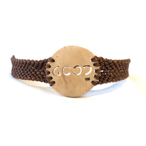 Good Always Coconut Shell Bracelet Brown Band Circle