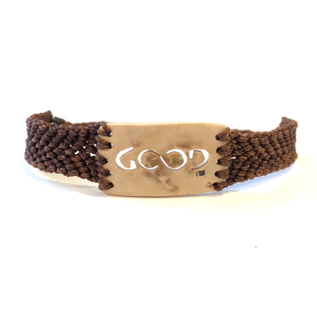 Good Always Coconut Shell Bracelet Brown Band Rectangle